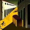 エクセル画でDe Chirico〜通りの神秘と憂鬱