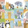 動物記念日のイラスト 1年間たまりました
