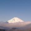 箱根のロープウエイから富士山を望む