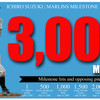 Ichiro reaches 3,000 MLB hits