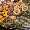 幸運な病のレシピ( 1977 )夜:イカ天、シイタケ・カボチャ・春菊天ぷら、ハツの味噌味ソテー、生ニシン下ごしらえ、汁