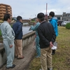 県管理河川を現地調査