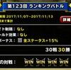 level.670【物質系15%UP】第123回闘技場ランキングバトル最終日