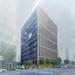 南町通りの新オフィスビル、免震オフィス「ミレーネT仙台ビル」の建設状況(2020年6月)