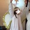 降誕劇で天使さんになりました