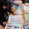 6年生:図工 木版画の裏に彩色