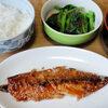 今日の食べ物 朝食に鯖の味醂干し