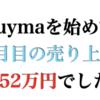 Buymaでのファッションバイヤー活動2ヶ月目は売り上げ152万円、先月から69万円アップしました