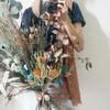 おしゃれなドライフラワー!ユーカリとティートゥリーに癒やされる、スワッグにもなる花束!