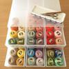 DMC8番刺繍糸と無印良品収納ボックス