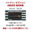 【10/9-10/23】バイナリーオプション自動売買 運用