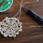 極細レース針で編む極小ドイリー|ミシン糸とキルト用糸のデュアルデューティー