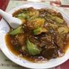 錦町 マリンハイツの「百鶴楼」で牛バラ丼