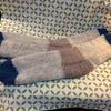 まっすぐ編みのくつした