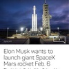 SpaceX Mars Rocket on Feb.6