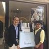 大阪府藤井寺市の「Barber Shop ハロンボ」の鶴井様にカルヴォのポスターをお届けに上がりました