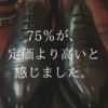 【約75%の人が定価よりも高いと予想!】靴磨きをすると、革靴は約14000円高価に見えることが判明。