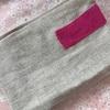 手縫いのポーチのメッセージ