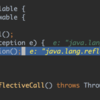 java.lang.reflect.InvocationTargetExceptionが出た