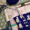 編み込みの練習をする。