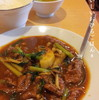 ●与野「啓徳」の四川名物牛肉の激辛煮ランチ