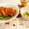 揚げ鶏の甘酢あんかけ 定食
