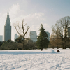 #filmphotography   雪の色と空の色 雲の色と影の色