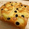 【レシピ付】休日のランチに!オリーブとポテトのフォカッチャ(ホシノ天然酵母)