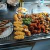 幸運な病のレシピ( 2511 )昼:揚げ物一式、ポテサラ準備