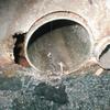 排水改良1−4(よくある会所枡の穴あき補修の例)