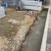 外構工事で円型水路の施工