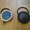 藍染トカゲと黒スキモのヘアゴム。