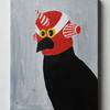 新しく描いたマスクをかぶった動物の絵三点の紹介