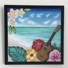 チョークアート*南国ハワイの絵