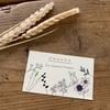 花香さんのショップカードのお仕事