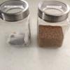 ニトリのガラスキャニスターを使用してコーヒー類を保存しています!