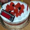 『苺のデコレーションケーキ』(シャトレーゼ)で誕生祝い
