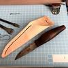 レザークラフトでシースナイフの鞘「シース」を作る!