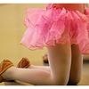 脱げないワンピース、ピンク色。