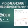 【ETF】VIGの魅力を解説!連続増配企業の詰め合わせ!