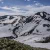 残雪の北部白山