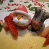●クリスマスごはん、Qoo作チーズケーキ