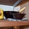 擂鉢と擂粉木で胡麻ダレを作りました