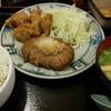 習志野市 京成大久保 まんぷく食堂なり 和風ハンバーグとから揚げ定食