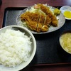 西川口の「あおき食堂」でエビフライとチキンカツ定食を食べました☆