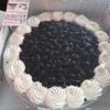 コストコの、ブルーベリークリームチーズタルトで、誕生日祝い