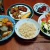 幸運な病のレシピ( 2348 )朝:煮しめ、塩サバ、手羽先てりやき、さつま揚げ照り煮
