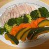 【台湾の電鍋】蒸し野菜&サラダチキン