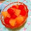 甘夏とトマトの香ばし焙じ茶マリネ