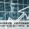 日々の株式投資記録 日経平均株価週間予想 190701~0705